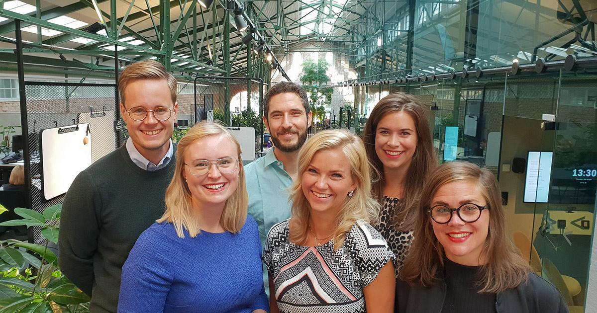 Sustainergies team (f v): Markus Danell, Ida Berg, Simon Werbart Flato, Ida Bohman, Sandra Runsten, Victoria Hellsten